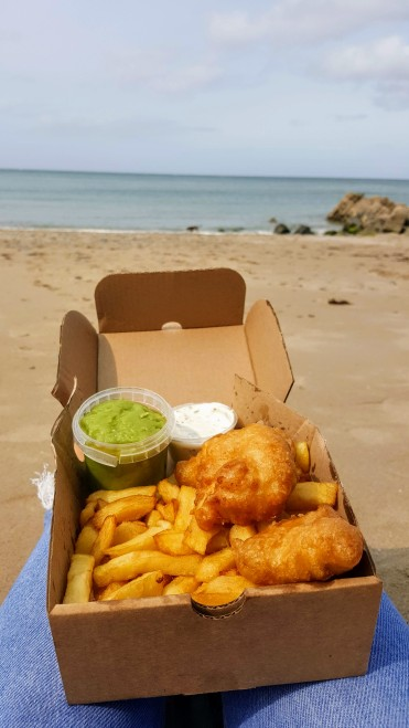 Once a seaside favourite, always a seaside favourite! Classic fish and chips with all the trimmings!