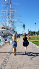 Anna and Julie strutting their stuff in Turku