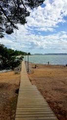 The beautiful beach at Ruisalo