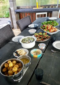 Just one of the incredible traditional Finnish feasts we all enjoyed!