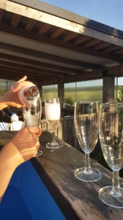 Bubbles and hot tub - what a way to finish off the trip!