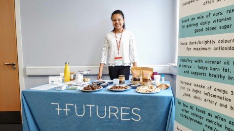 Here I am - ready to talk nutrition and share my homemade treats as part of the 7Futures team
